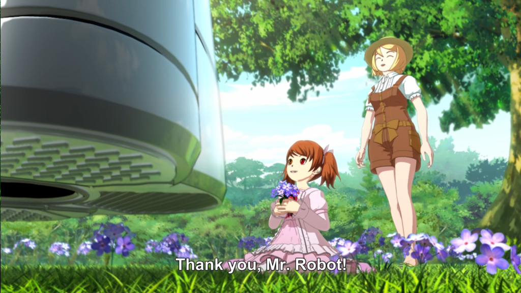 "You have no idea how disappointed I was that she didn't say ""Domo arigato, Mister Roboto."""